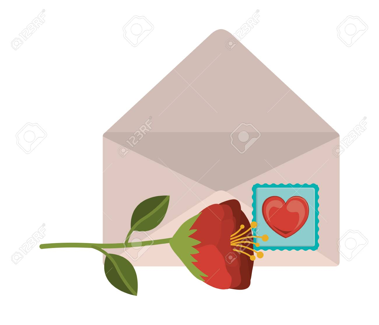 love letter design vector illustration eps10 graphic stock vector 48664484