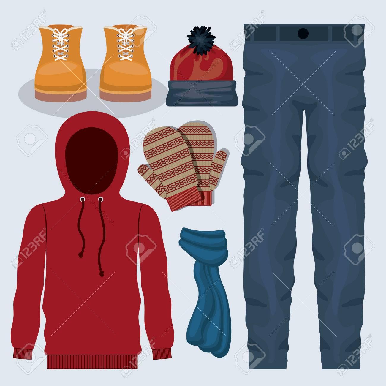 winter clothing design illustration graphic - 49107047