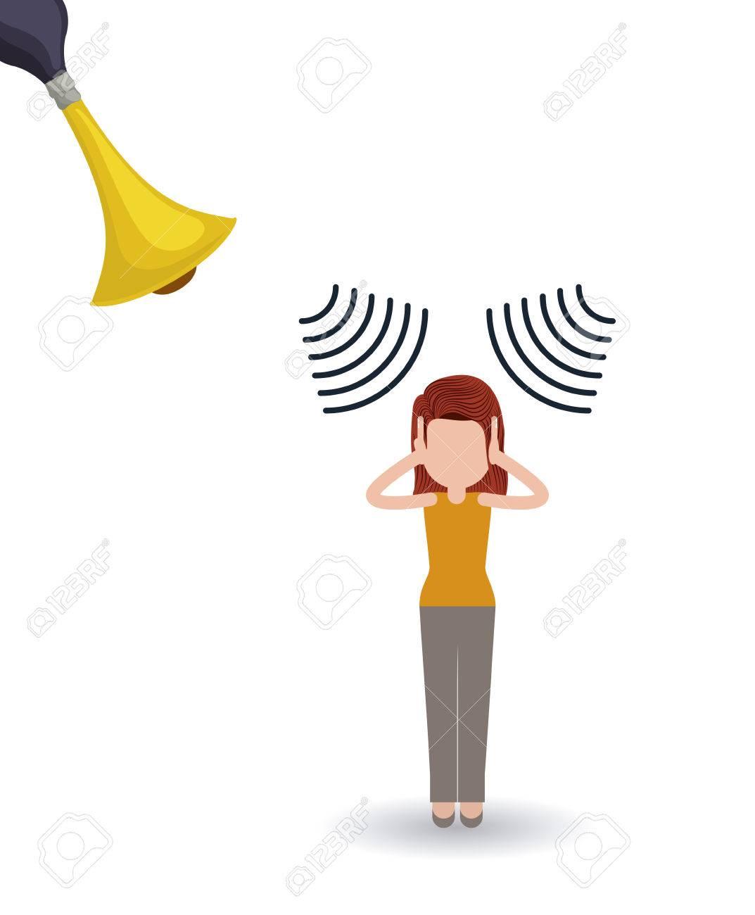 noise pollution design, vector illustration graphic - 53273646