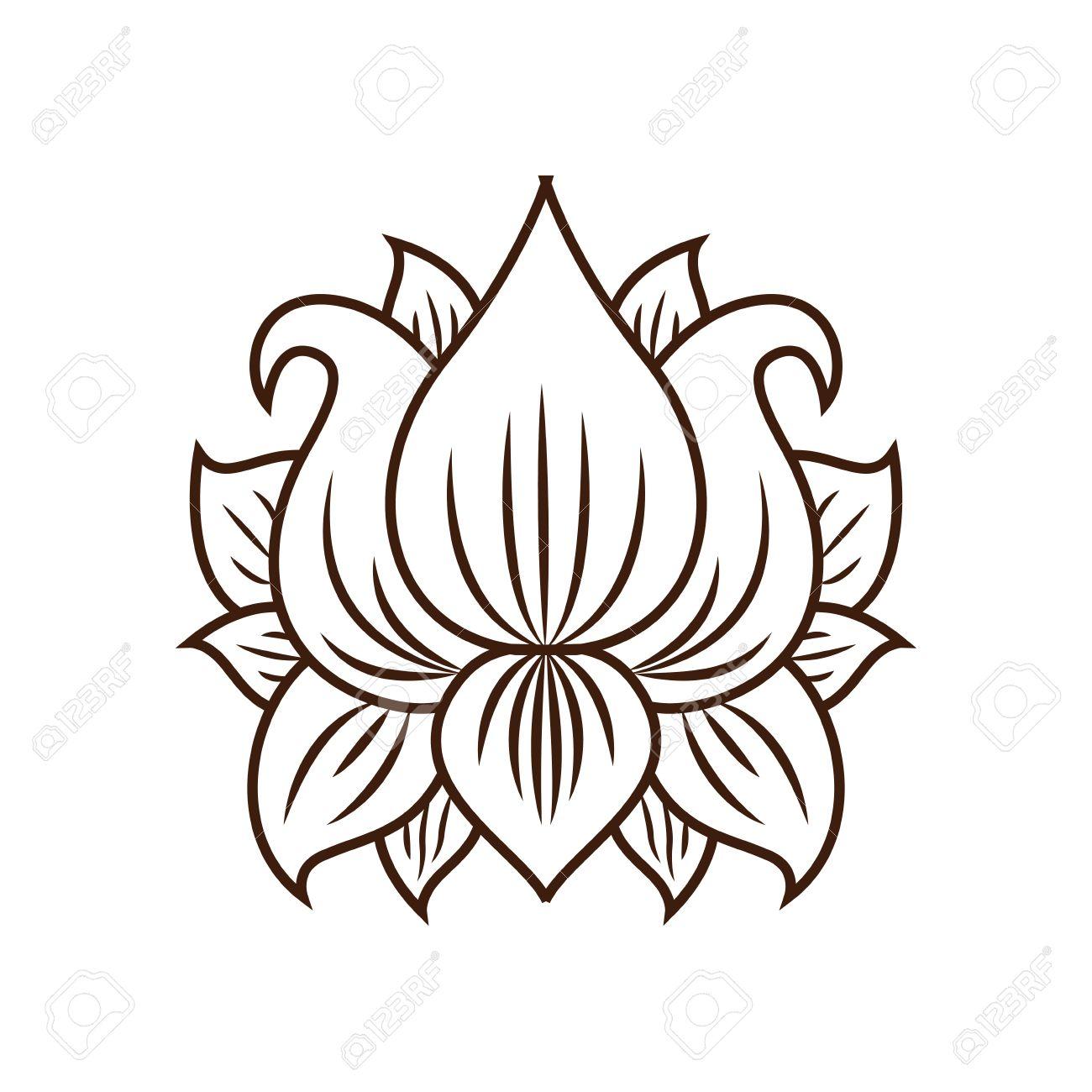 Fleur De Lotus Tatouage Clipart Fleur Lotus Tatouage Fotosearch