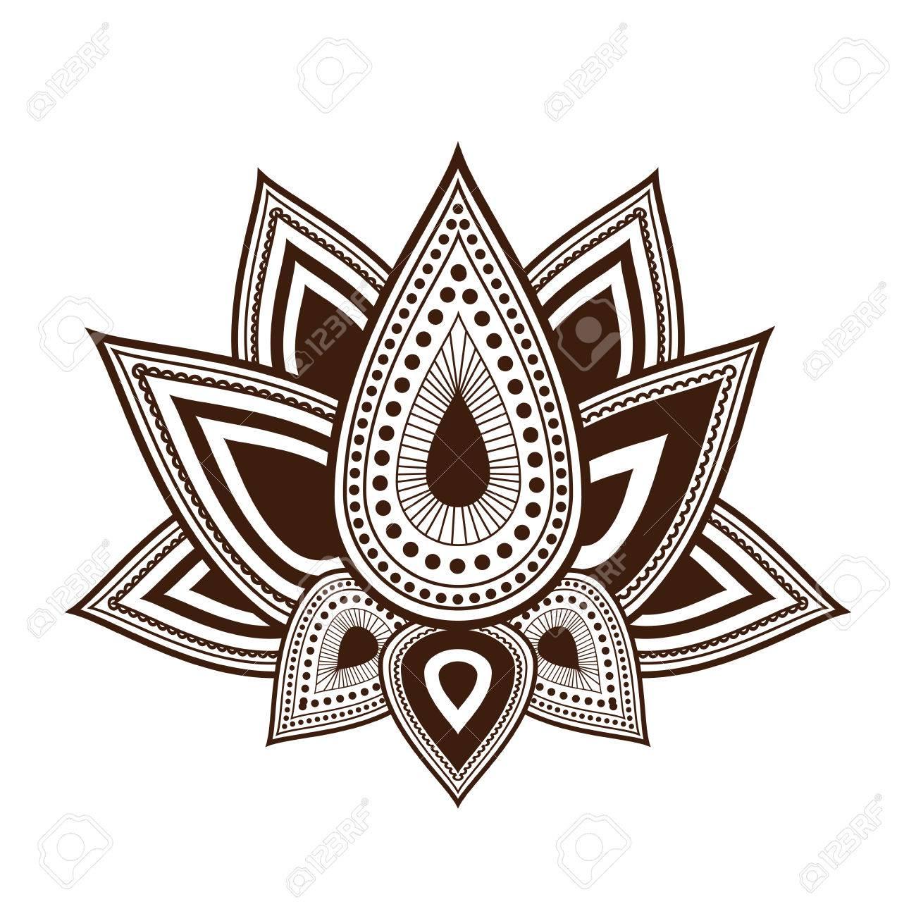 Dessin De Fleur De Lotus Icone Isole Design Vecteur Illustration