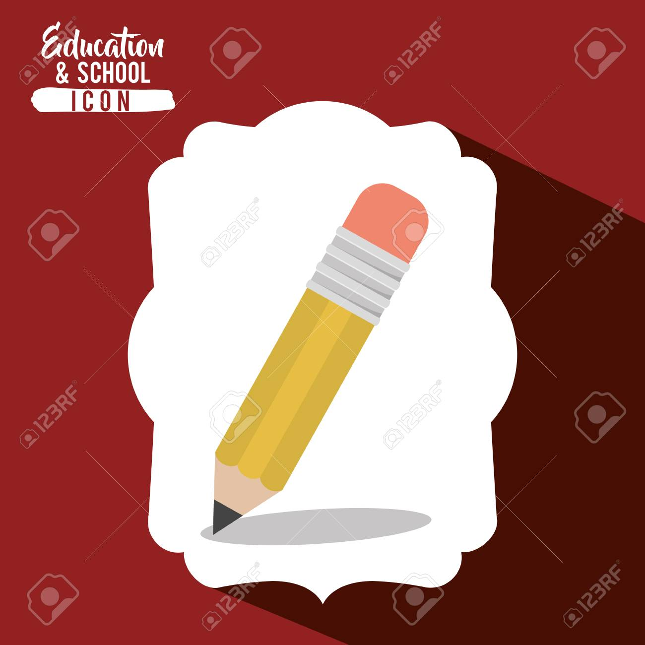 Pencil Tool Icon. Draw Write School And Instrument Theme. Frame ...