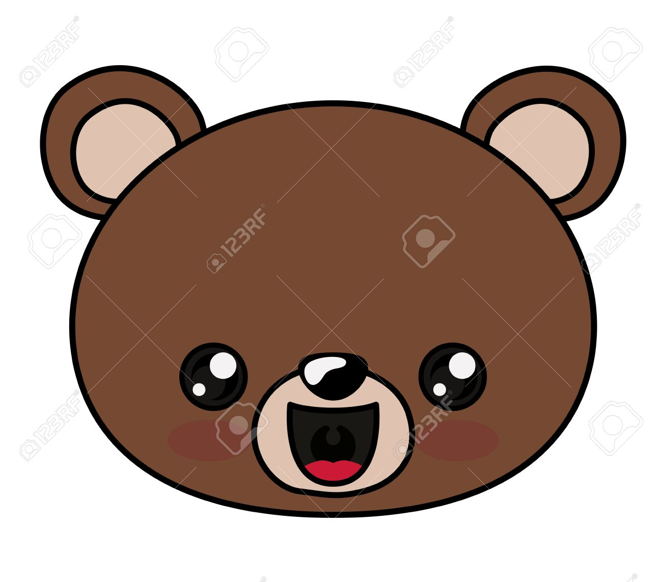 bear with kawaii face icon cute animal cartoon and character