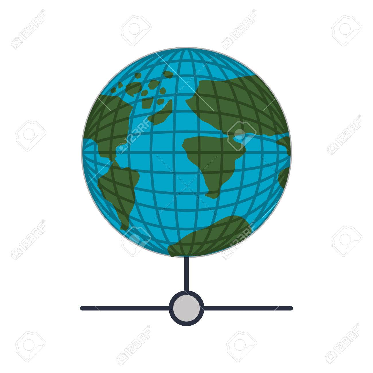 Earth world map with continents vector illustration royalty free earth world map with continents vector illustration stock vector 63910974 gumiabroncs Images