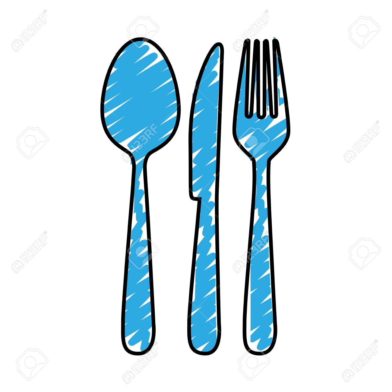 Cutlery Icon Image Simple Vector Illustration Design Royalty Free ...