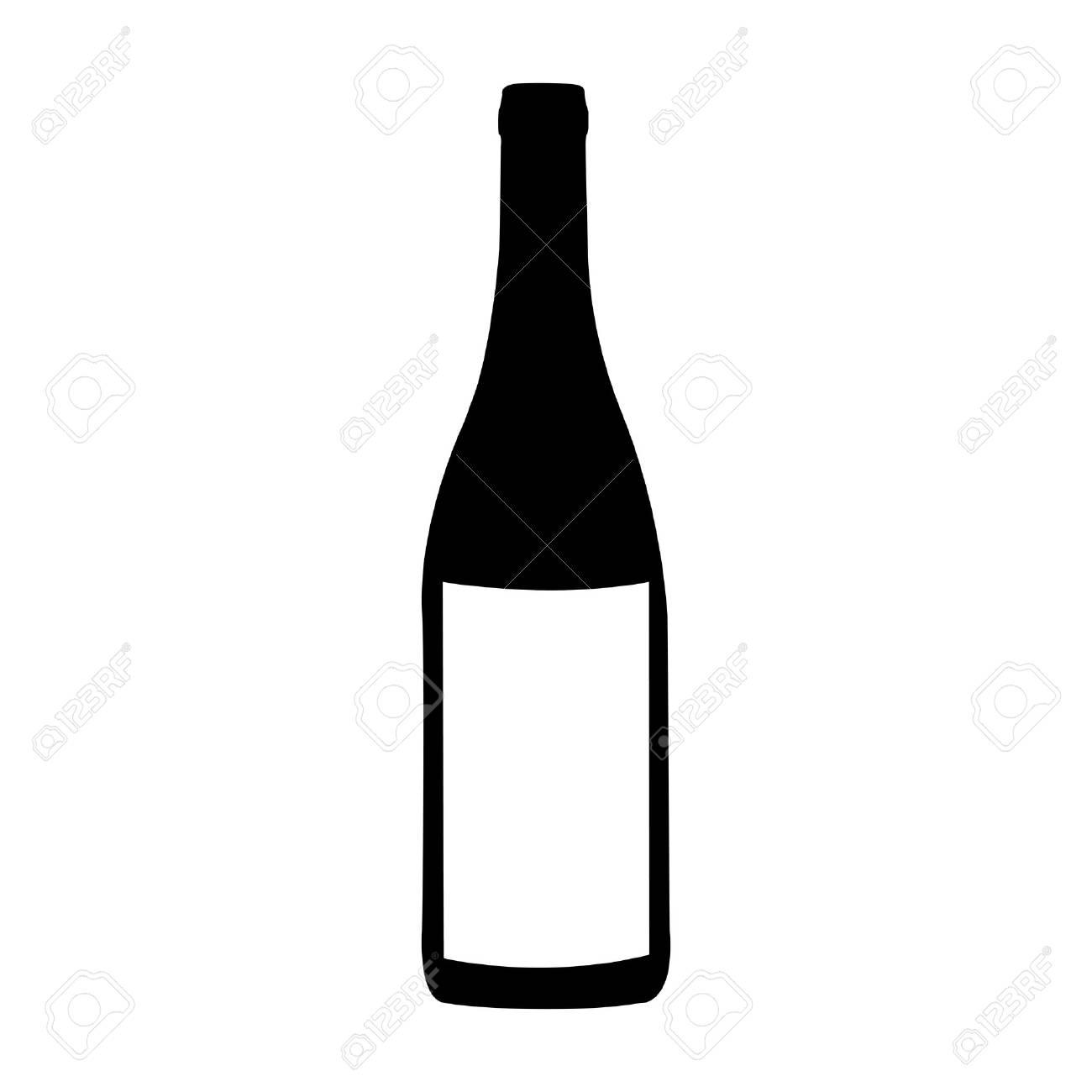 Bouteille de vin icône image illustration vectorielle
