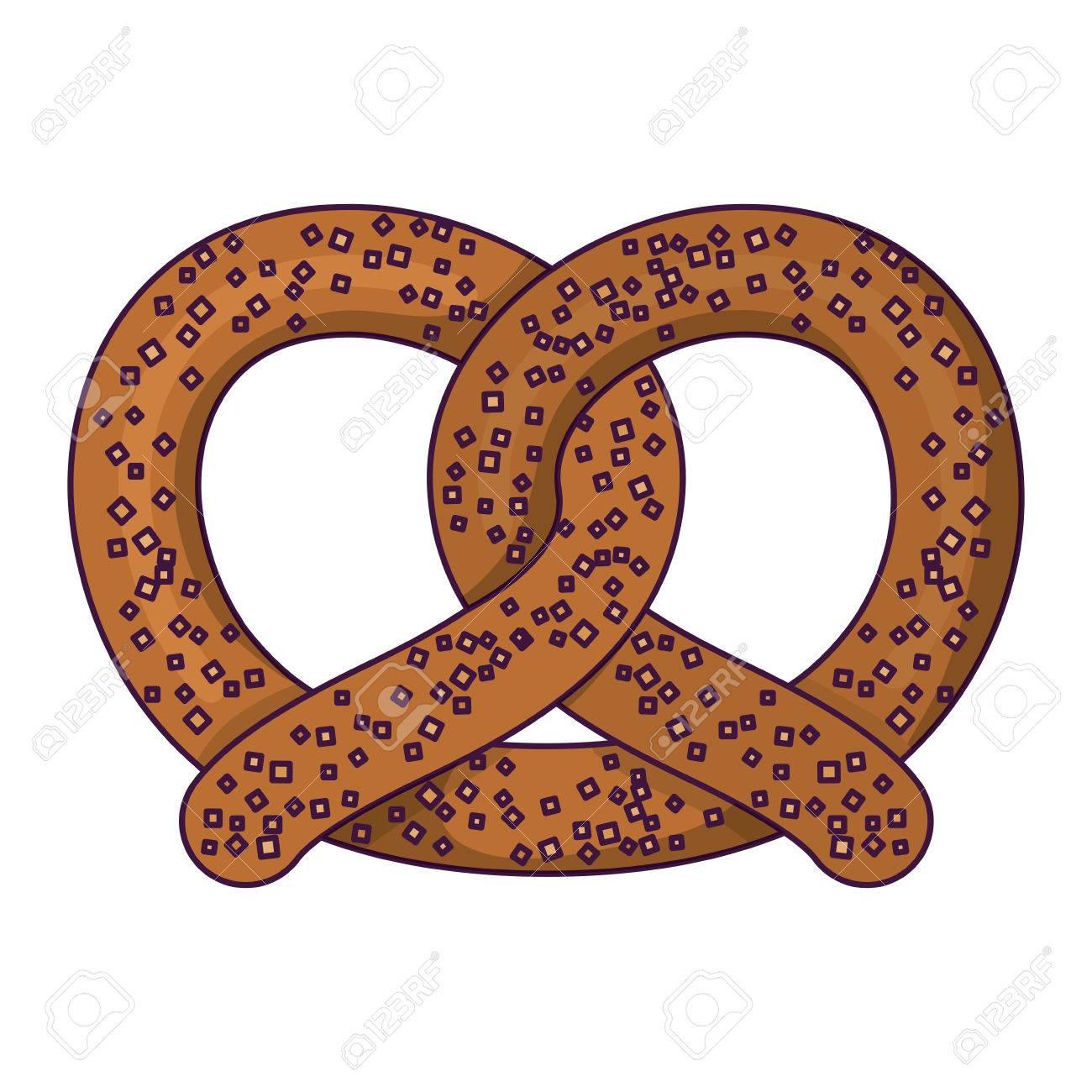 pretzel bread icon oktoberfest germany culture festival and