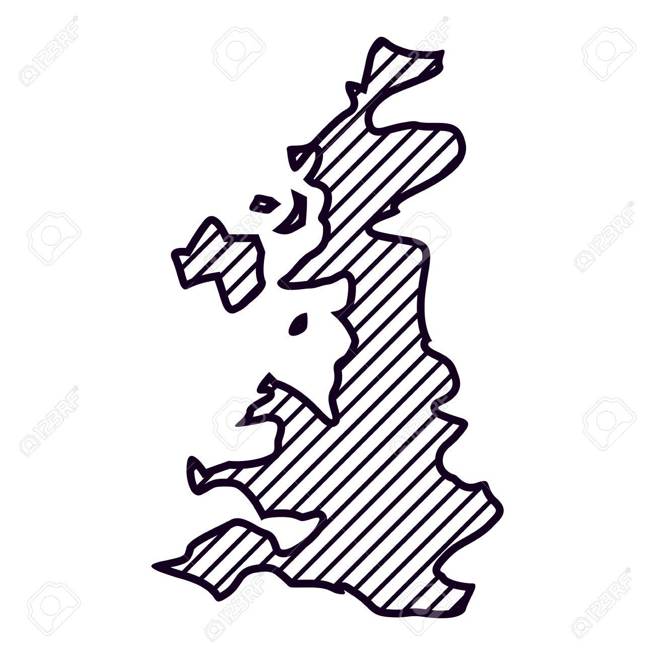 United Kingdom Map Icon. London Uk Landmark Tourism And England ...
