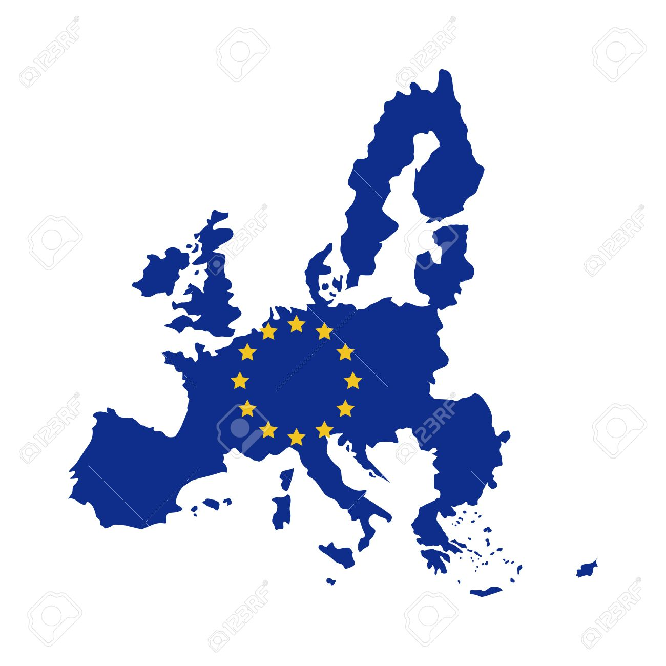 European union map icon. Europe eu country national and politics theme.  Isolated design.