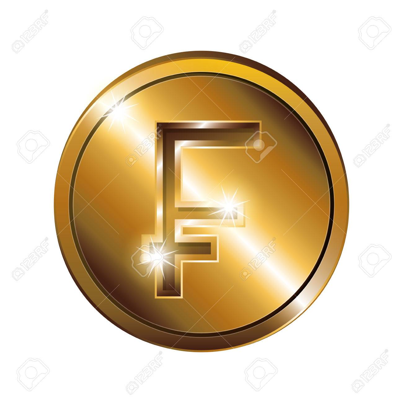 Silhouette With Coin Gold And Currency Symbol Frank French And