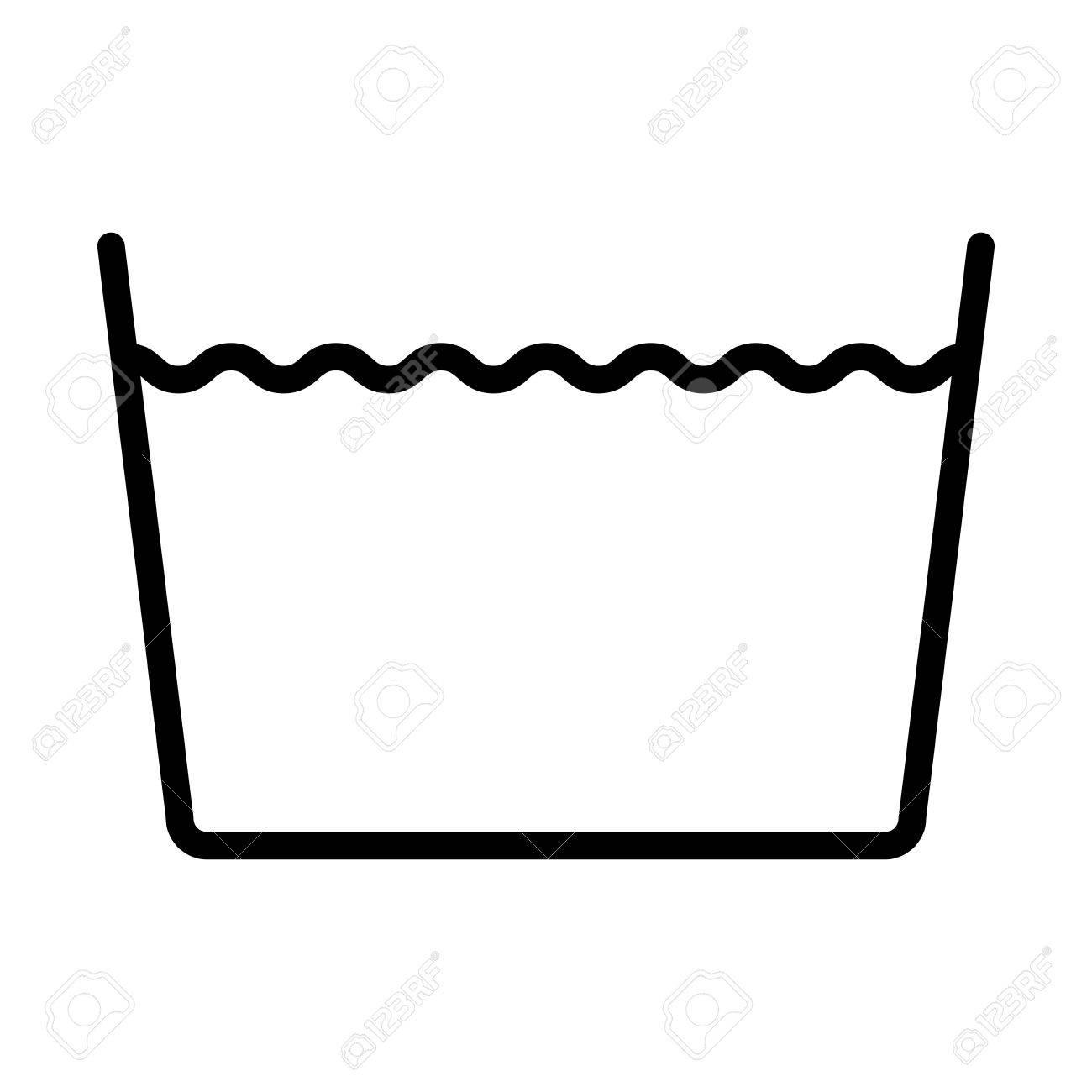 Machine wash normal icon over white backgroundwashing symbols machine wash normal icon over white backgroundwashing symbols design illustration stock vector biocorpaavc Gallery
