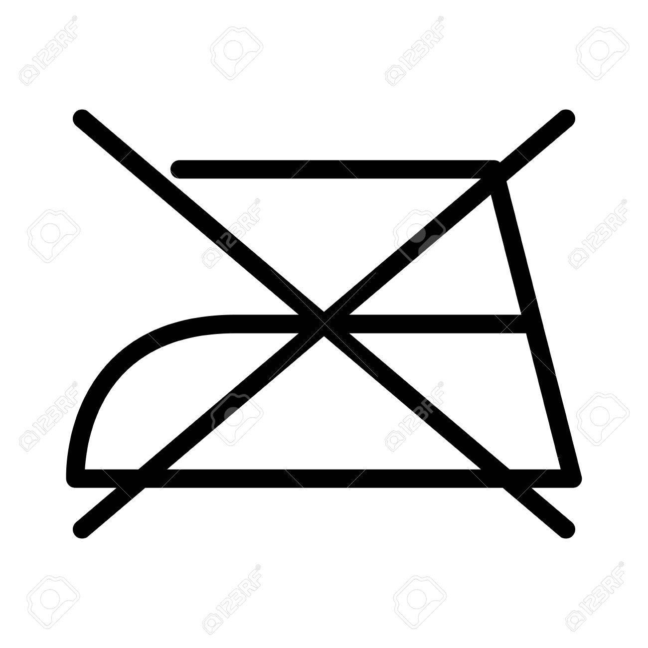 Do Not Iron Over White Backgroundwashing Symbols Design