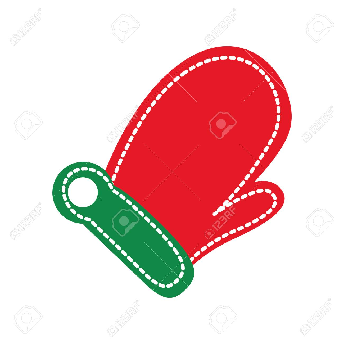 ミトン手袋クリスマス アイコン画像ベクトル イラスト デザインの