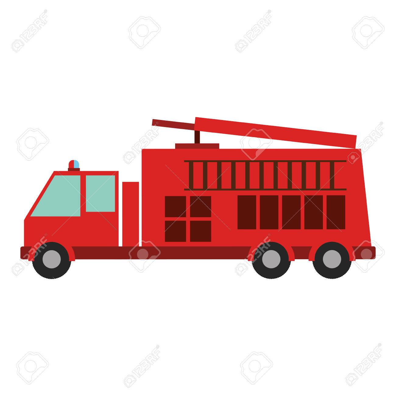 color silhouette with fire truck vector illustration royalty free rh 123rf com fire truck vector free vintage fire truck vector
