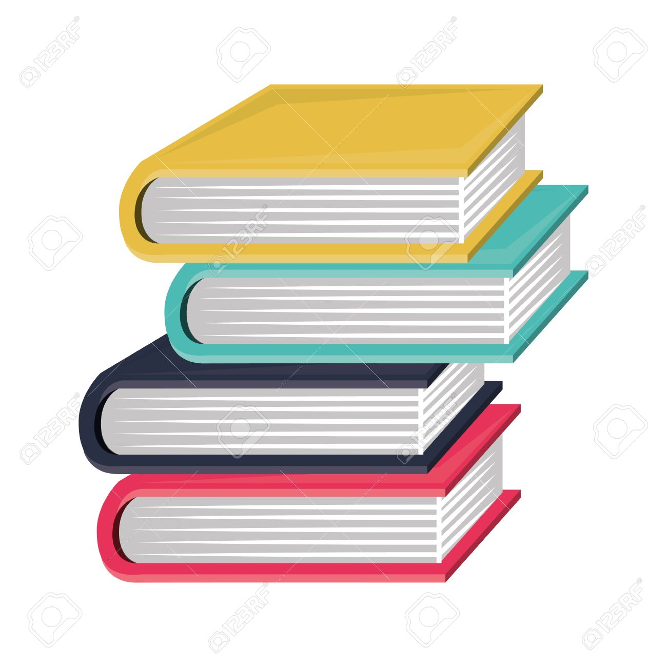 colorful and irregular stacked books vector illustration royalty rh 123rf com victor books vector books bayonne