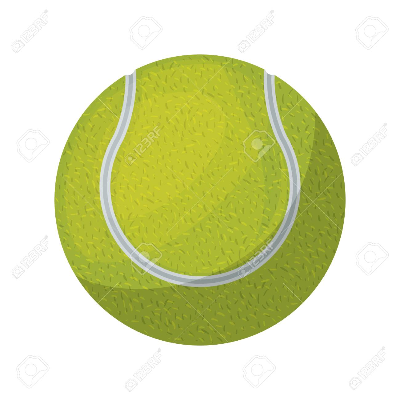 Silhouette Color With Tennis Ball Vector Illustration Royalty Free