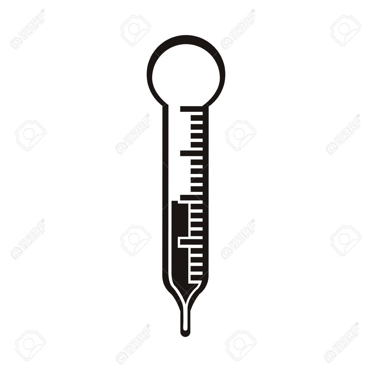 Termometro De La Silueta En Negro Con La Ilustracion Vectorial Escala De Temperatura Ilustraciones Vectoriales Clip Art Vectorizado Libre De Derechos Image 66634490 Termómetro de plástico negro, de grandes dimensiones y muy visual. termometro de la silueta en negro con la ilustracion vectorial escala de temperatura