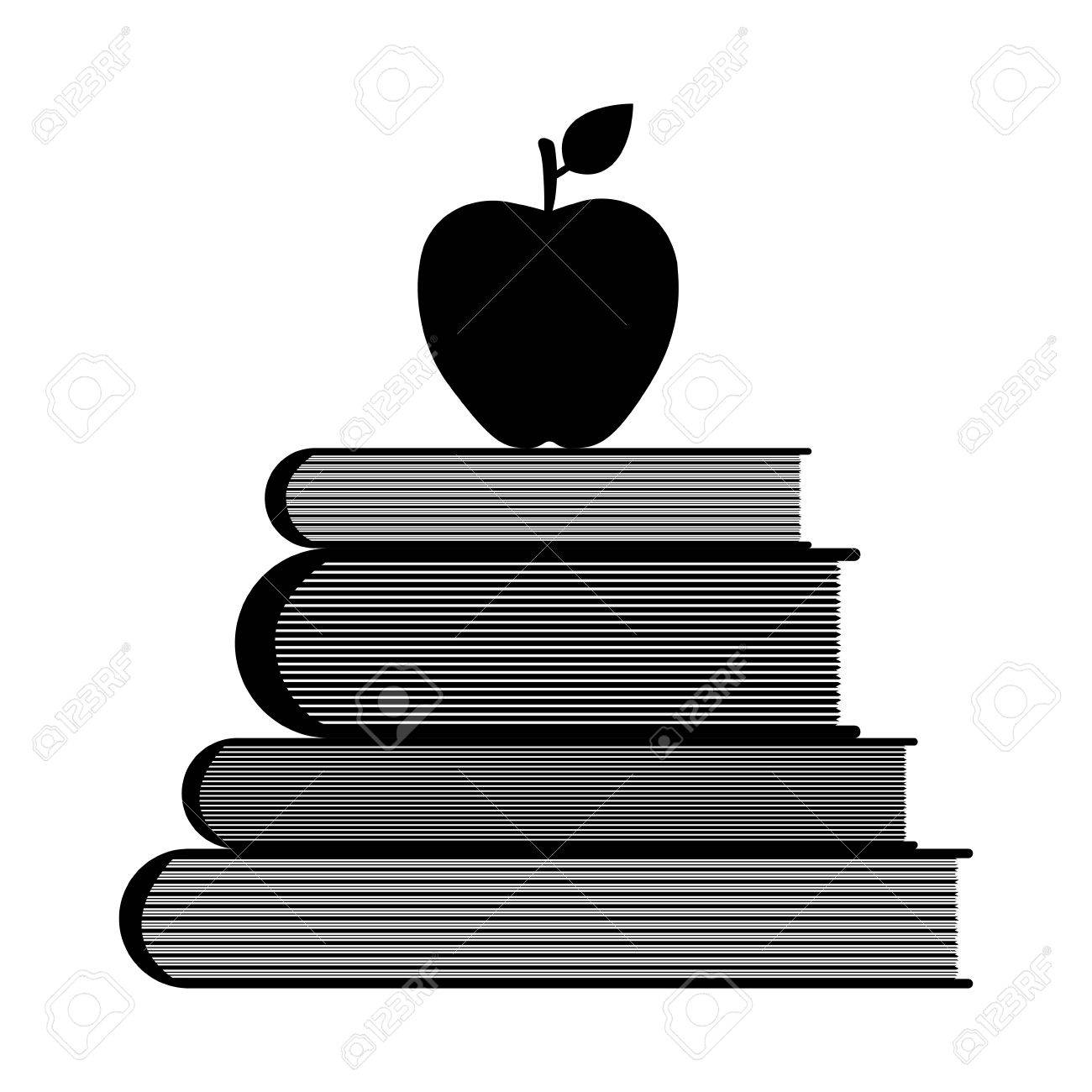 Education symbol stack of books and apple vector illustration education symbol stack of books and apple vector illustration stock vector 66671354 buycottarizona