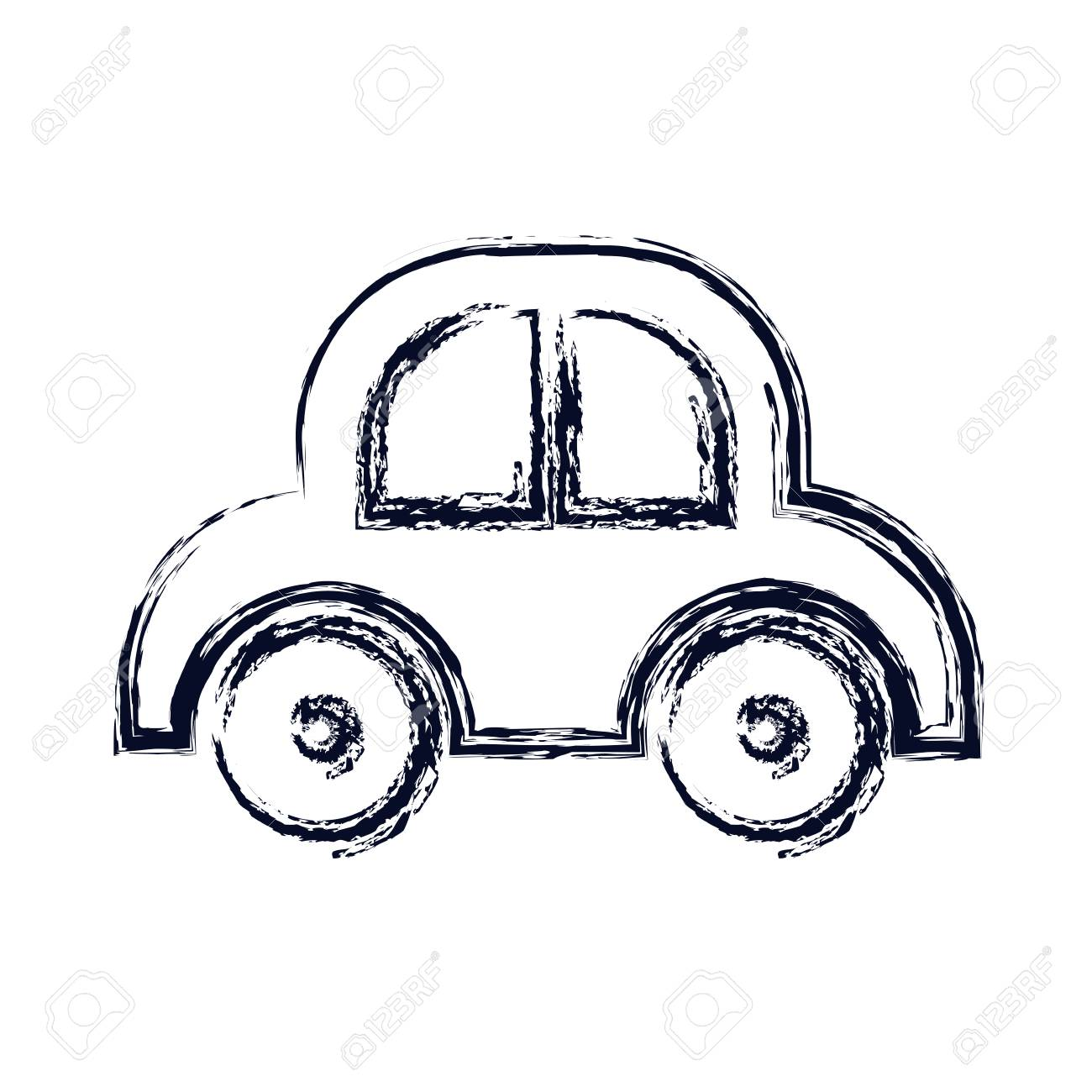 Toy Car Icon Baby Object Child Childhood Infant Theme Isolated