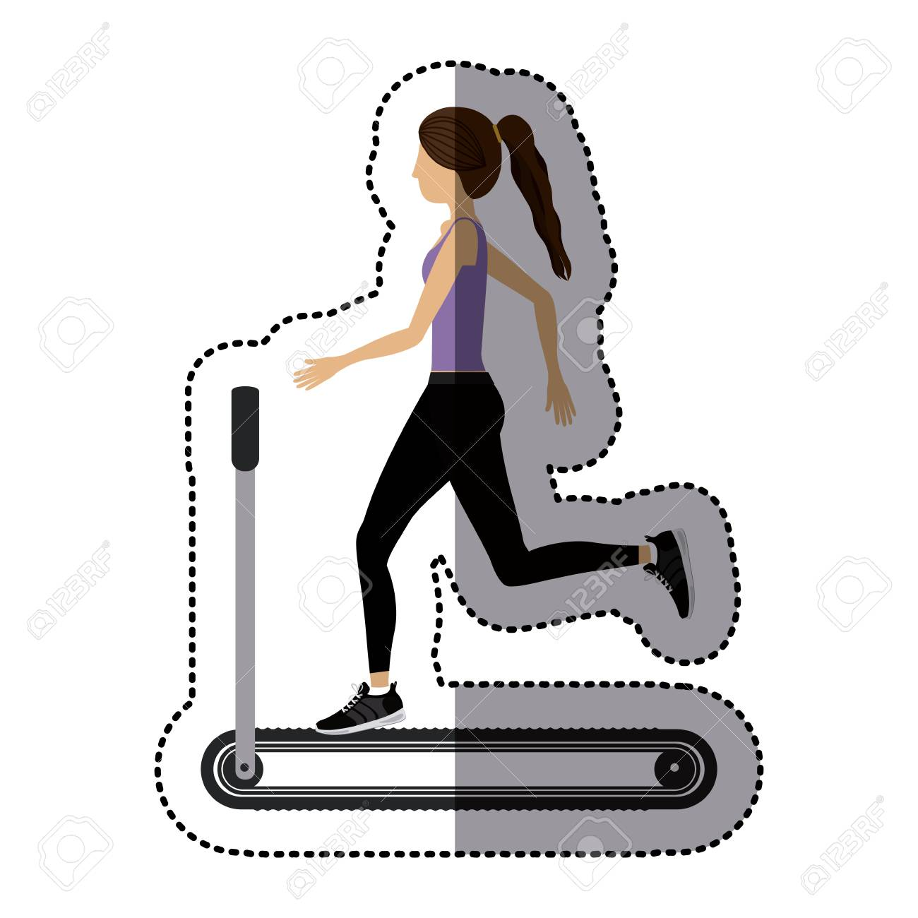 Girl Doing Exercise Icon. Fitness Gym Sport And Bodybuilding ... for Physical Fitness Design  155fiz