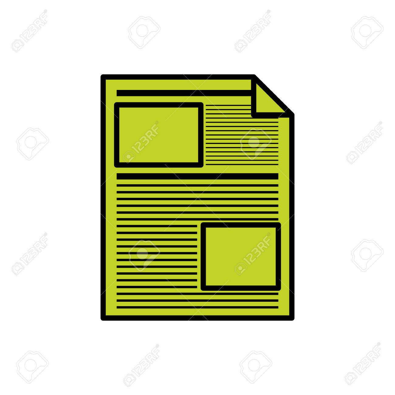 piece of paper icon document data archive office and information