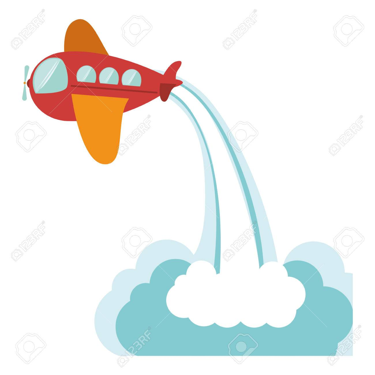 Toy Airplane Icon Childhood Play Fun Cartoon And Game Theme