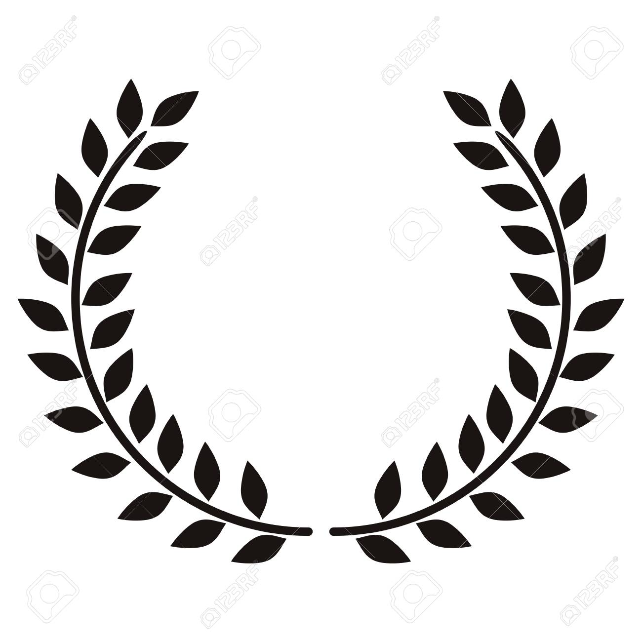 wreath leaves ornament icon vector illustration graphic royalty free