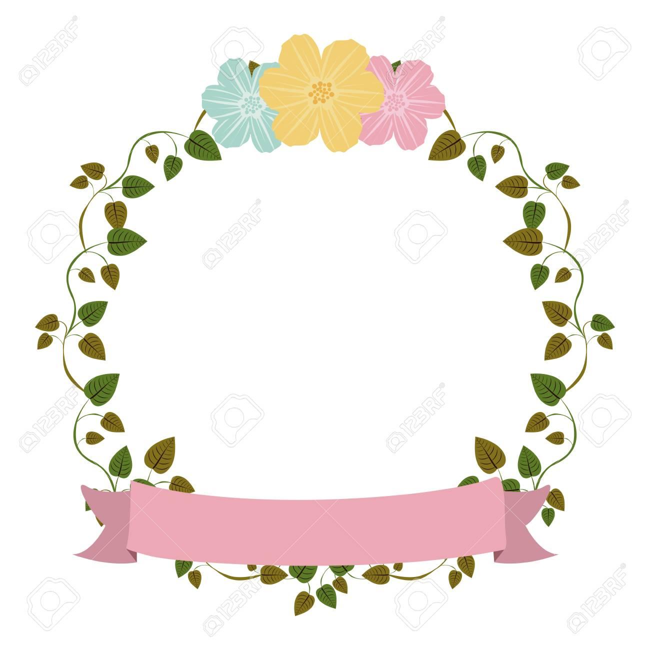 Coloridas Enredaderas De Ornamento Con Flores Y La Ilustración De