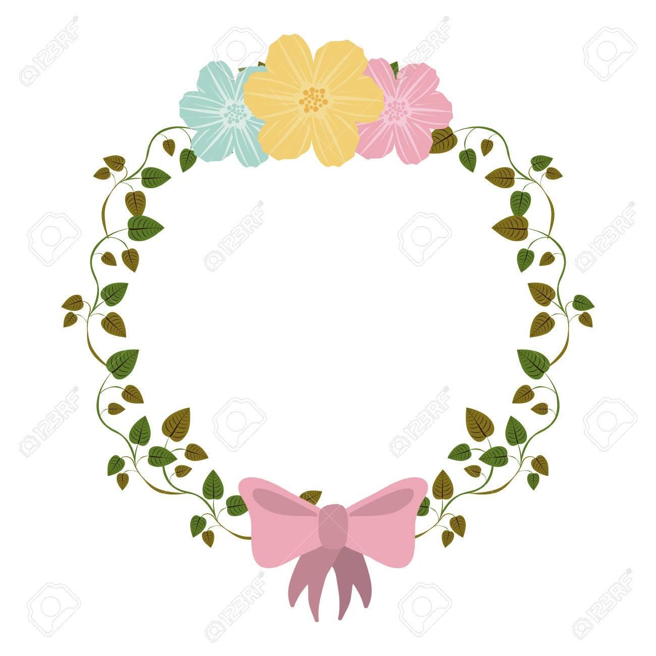 Colorido Ornamento Enredaderas Con Flores Y La Ilustración Vectorial