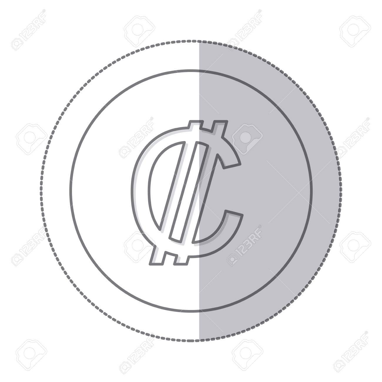 Middle shadow monochrome circle with currency symbol of colon middle shadow monochrome circle with currency symbol of colon costa rica vector illustration stock vector biocorpaavc Gallery