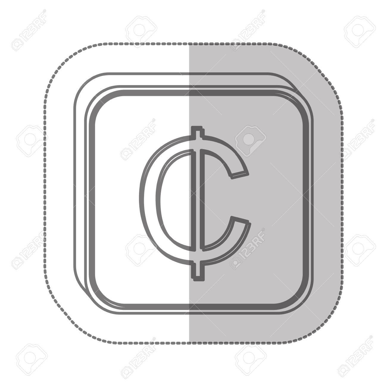 Ghanaian Cedi Currency Symbol Icon Image Vector Illustration