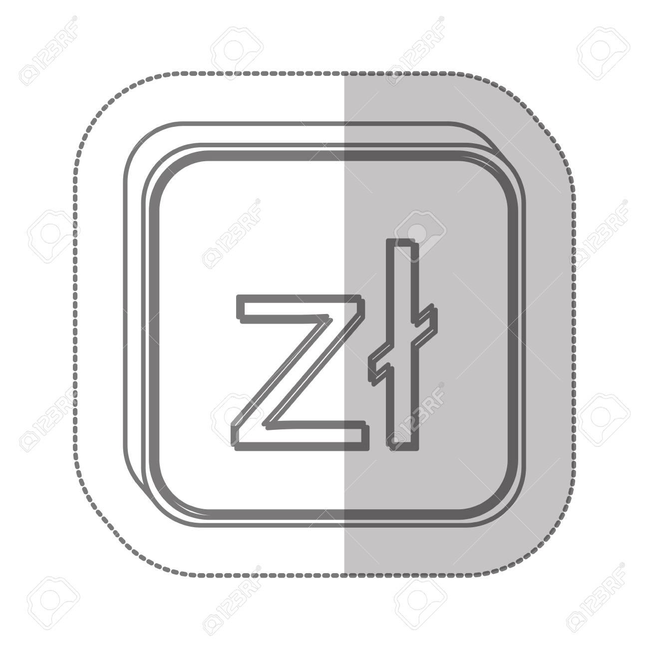 Polish Zloty Currency Symbol Icon Image Vector Illustration Royalty