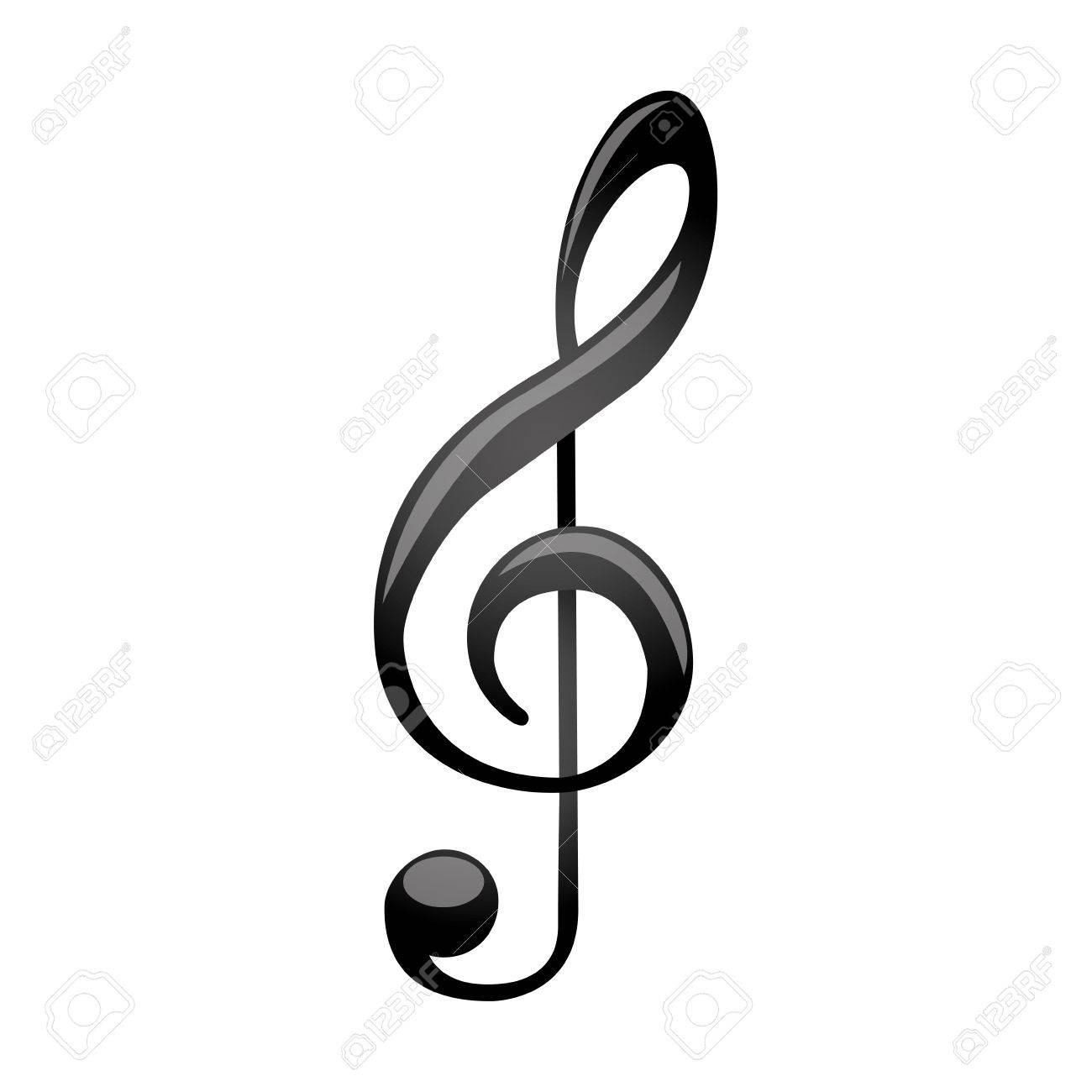 monochrome silhouette with sign music treble clef vector rh 123rf com treble clef vector free download treble clef vector image