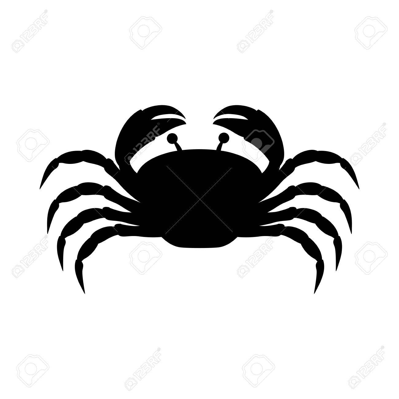 black silhouette graphic with crab vector illustration royalty free rh 123rf com crab vector free download crab vector graphic free