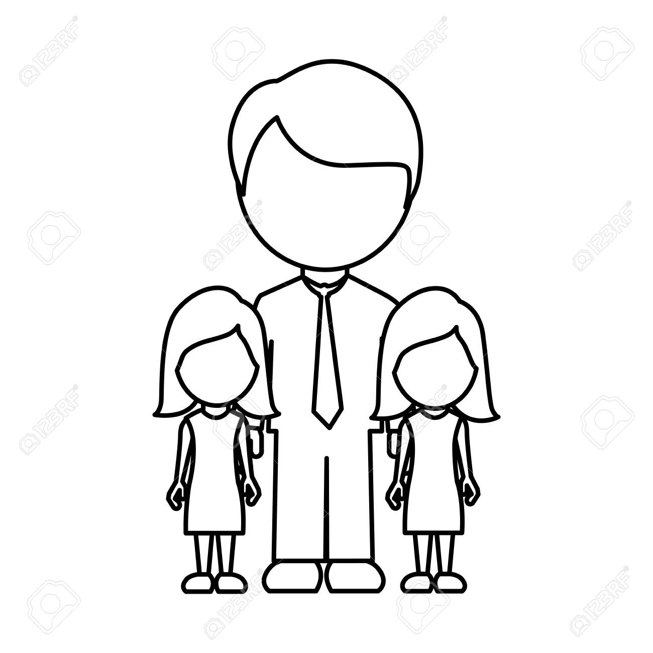 silhouette man her girls twins icon vector illustraction design The Funny Twins silhouette man her girls twins icon vector illustraction design stock vector 72695965