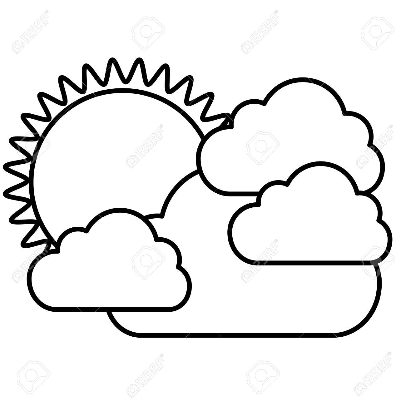 Silhouette Autocollant Soleil Avec Icone De Nuages Image De Dessin Vectoriel Illustraction Clip Art Libres De Droits Vecteurs Et Illustration Image 72807119