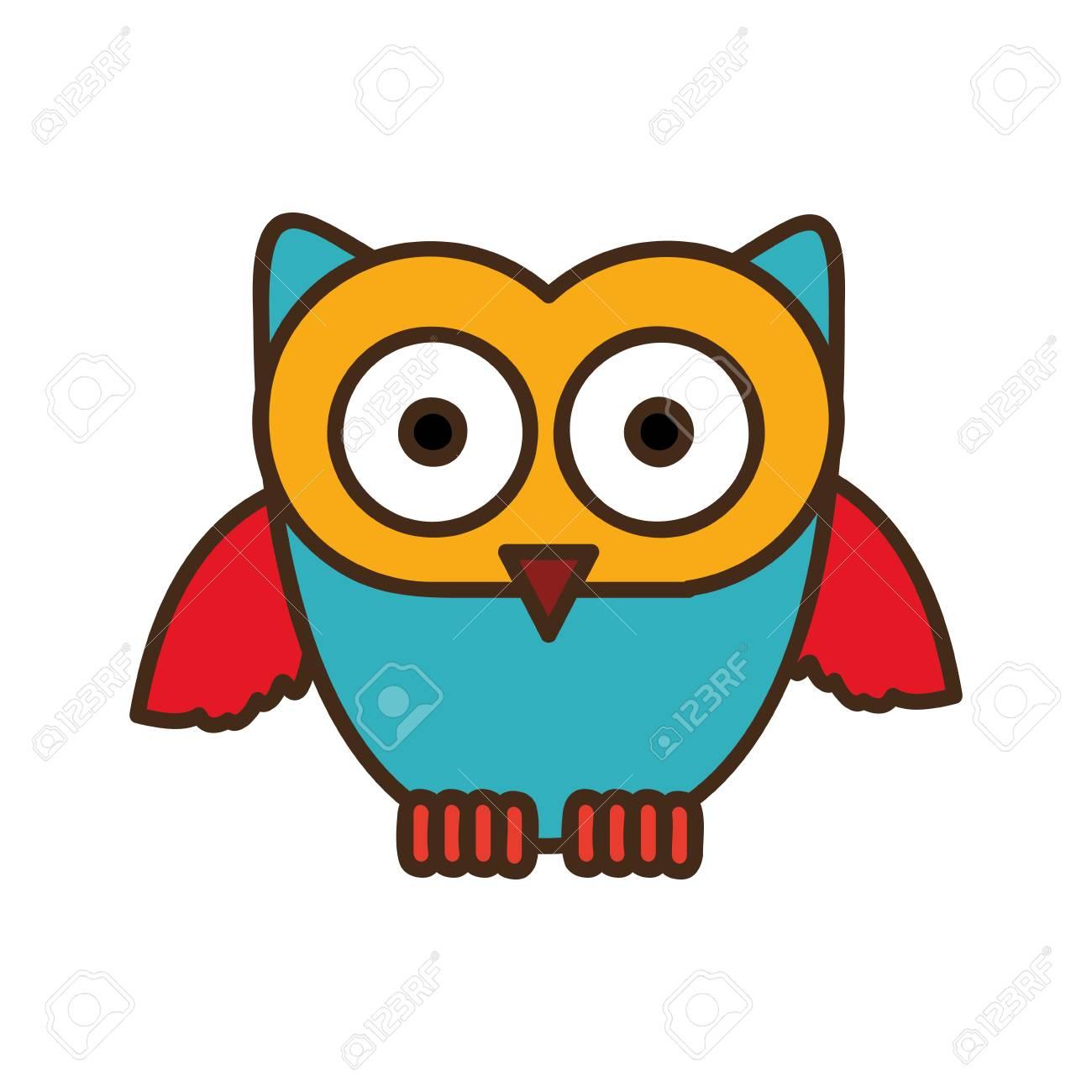 Chouette Dessin Stylisé icône de chouette couleur stylisée, image de dessin vectoriel