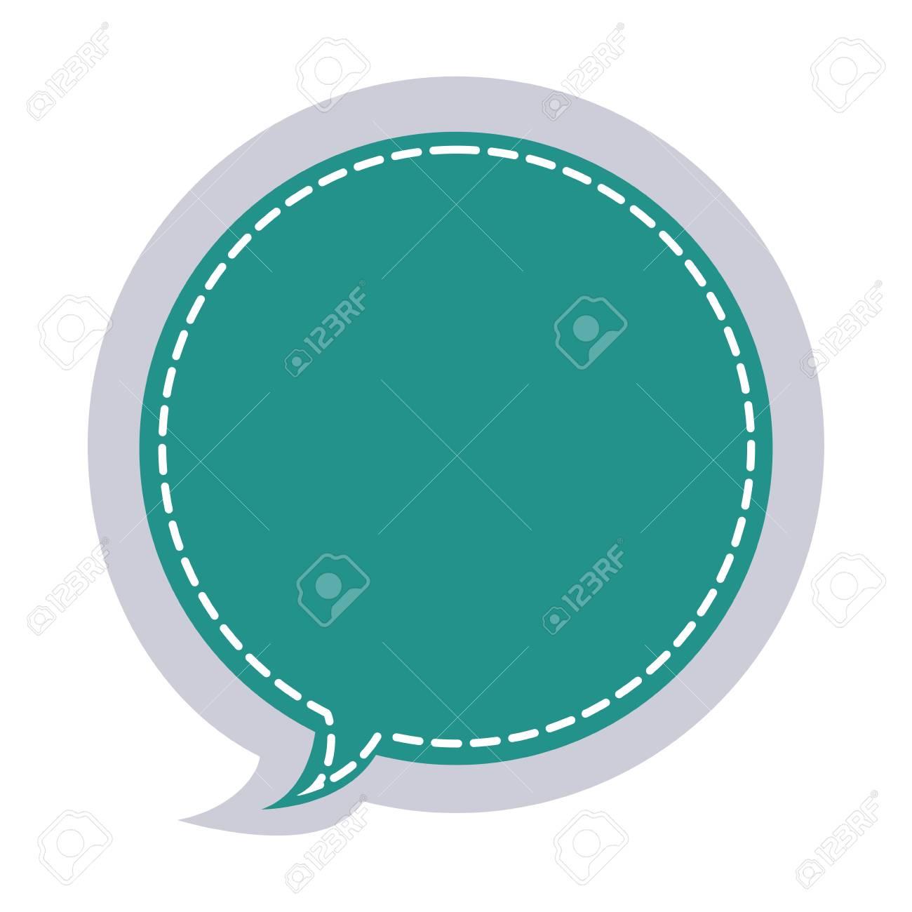 Sticker Circular Balloon Frame Callout Dialogue Vector Illustration ...