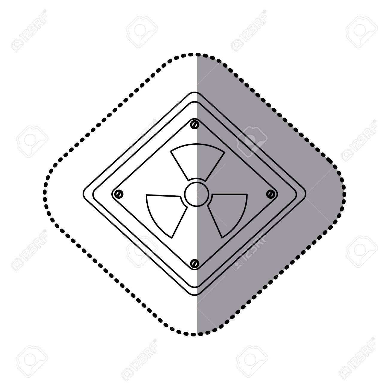 Monochrome silhouette sticker with square plate with radioactive monochrome silhouette sticker with square plate with radioactive symbol vector illustration stock vector 73444188 buycottarizona