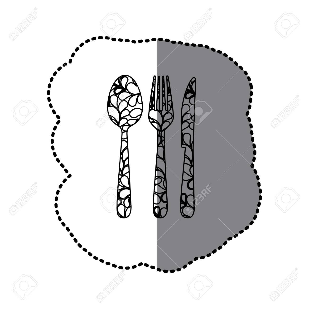 Scale Kontur Besteck Werkzeuge Symbol Vektor Illustraction Design Lizenzfrei Nutzbare Vektorgrafiken Clip Arts Illustrationen Image 73501460