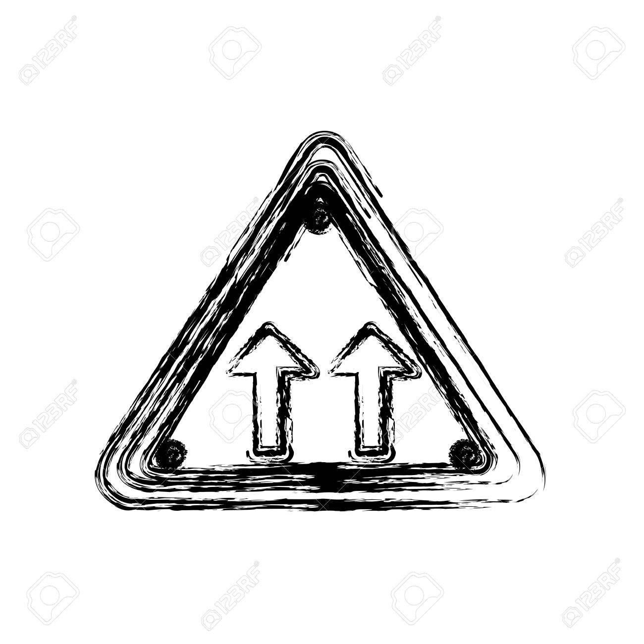 Borrosa Silueta Triángulo Forma Marco Misma Dirección Flecha ...