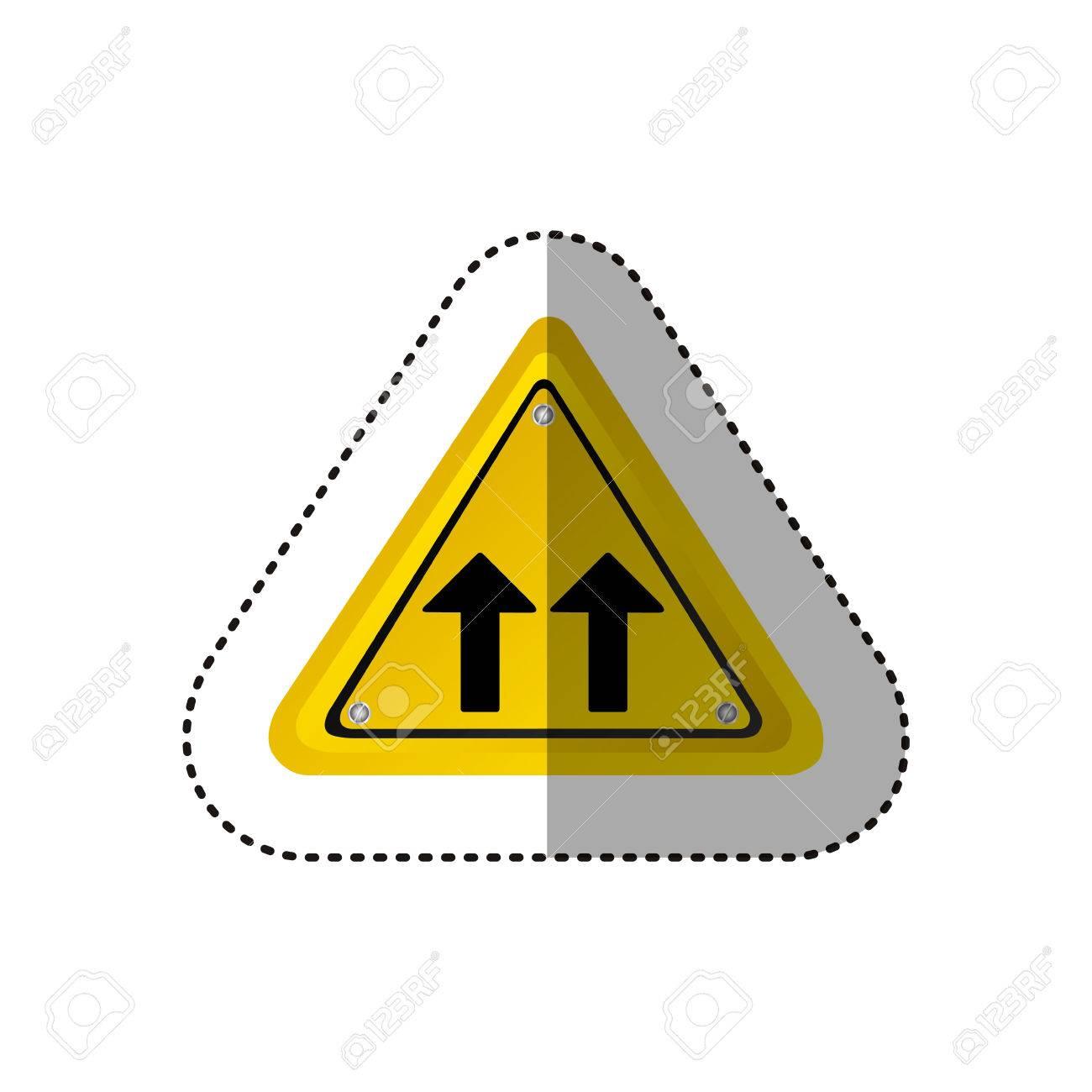 Aufkleber Metallisch Realistisch Gelb Dreieck Form Rahmen Gleiche ...