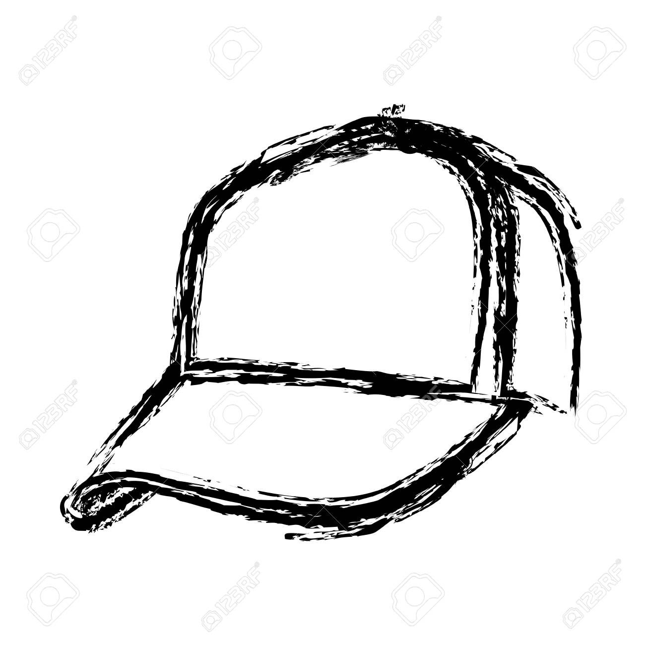 monochrome sketch of baseball cap vector illustration royalty free rh 123rf com cap victor marinetraffic cap victor marinetraffic