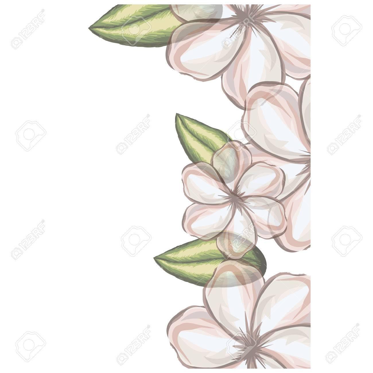 透明性のベクトル図の白いウスベニアオイ花のカラフルな花柄背景