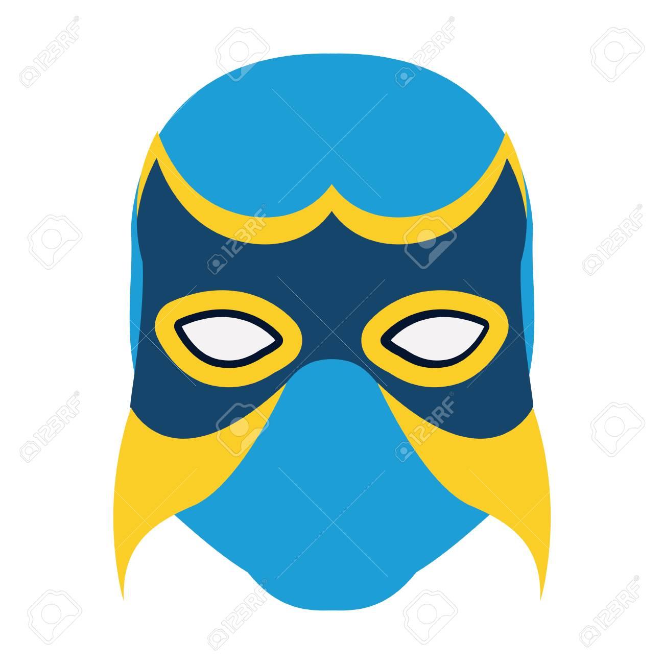 Único Plantilla De Máscara De Ladrón Ilustración - Ejemplo De ...