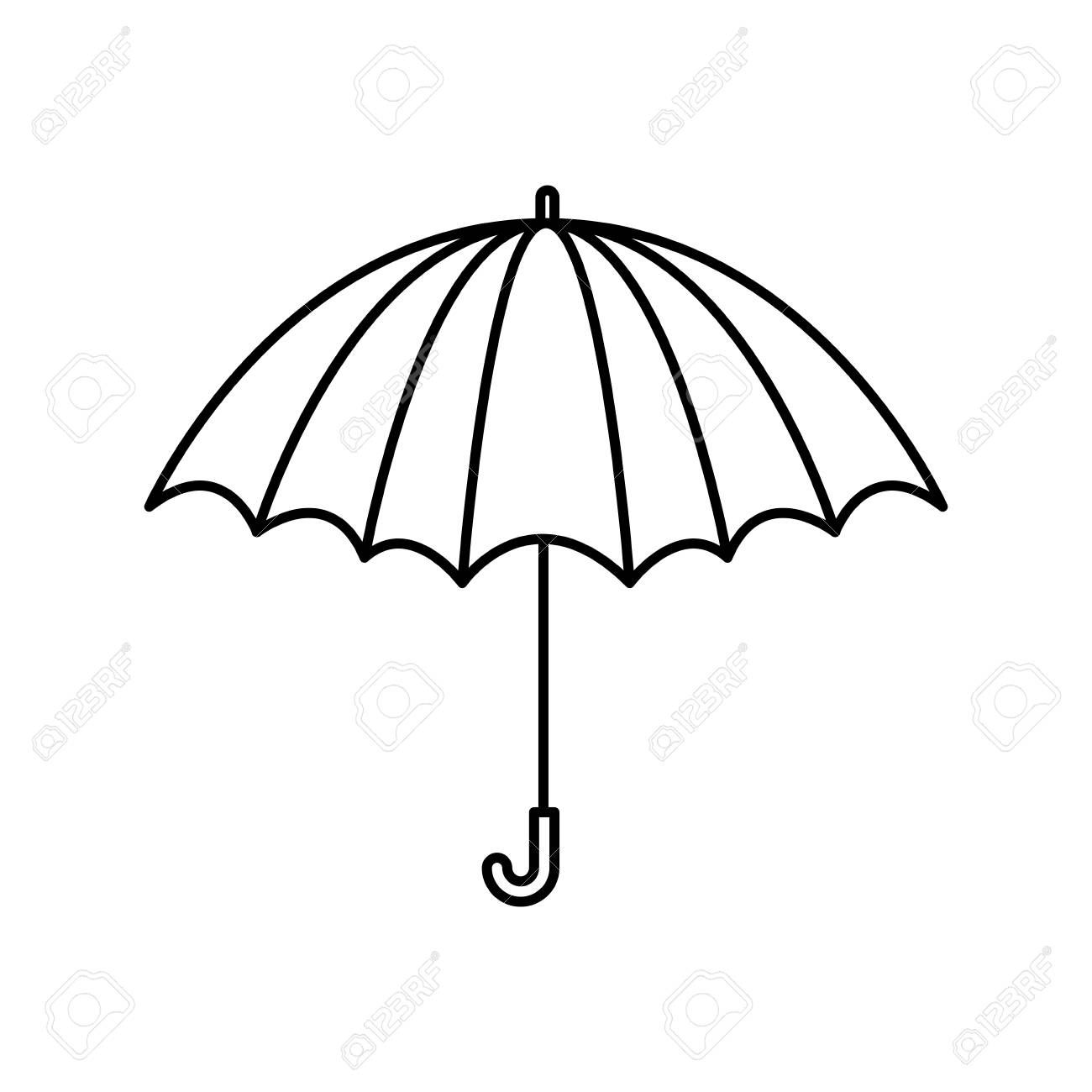 black silhouette with opened umbrella vector illustration royalty rh 123rf com umbrella vector logo umbrella vector tutorial