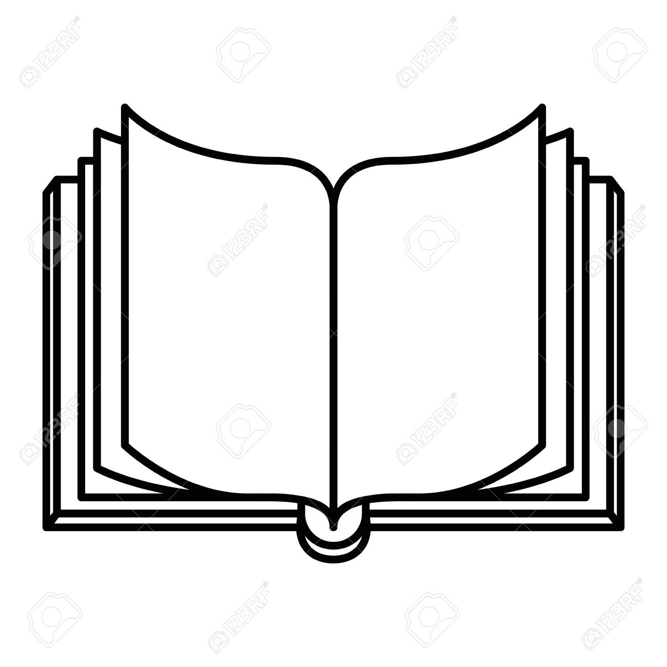 sketch silhouette image front view open book vector illustration rh 123rf com open book vector free open book vector free download