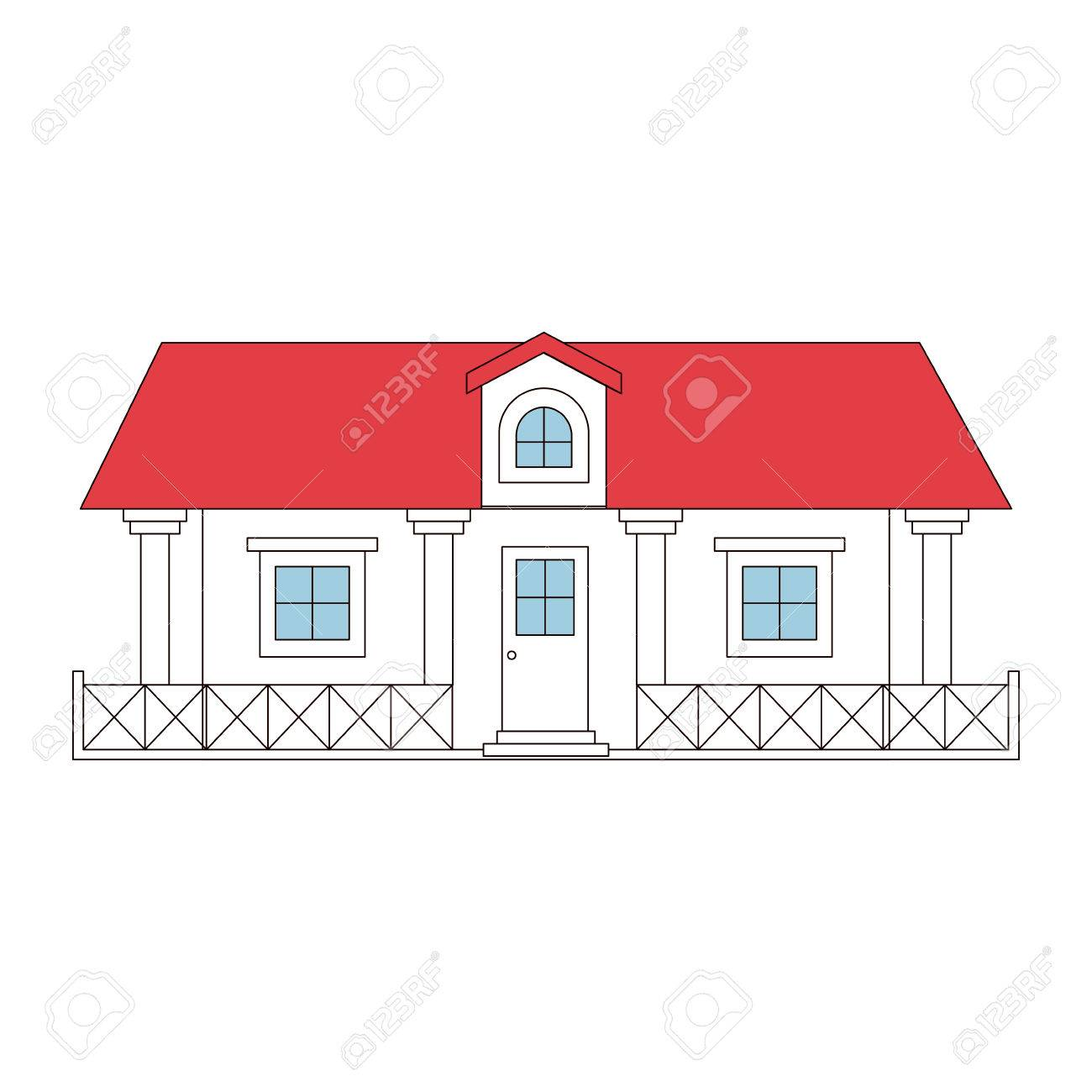 Roof and attic of a country house 41