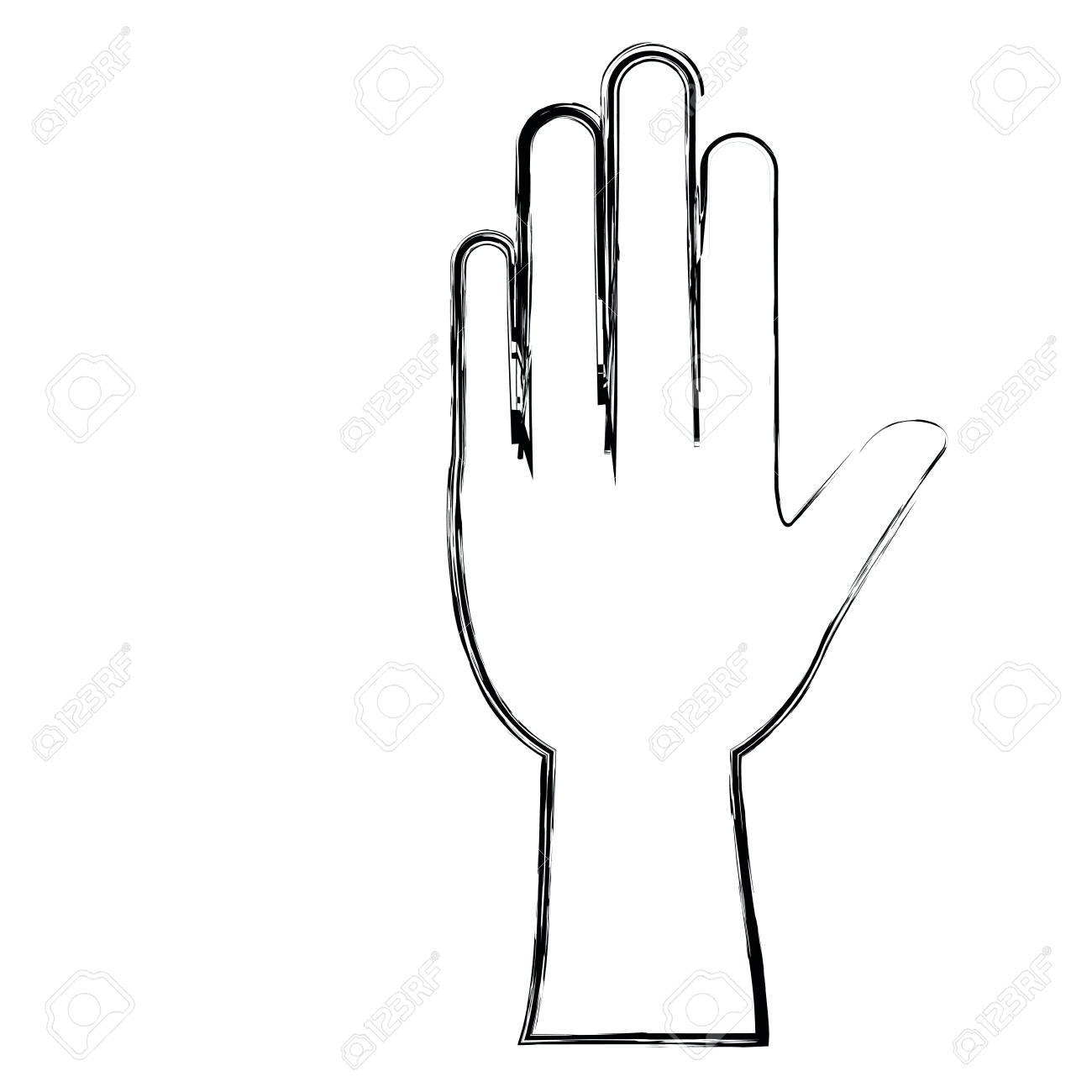 monochrome blurred silhouette of left hand vector illustration rh 123rf com left hand rule vector product left hand right hand vector
