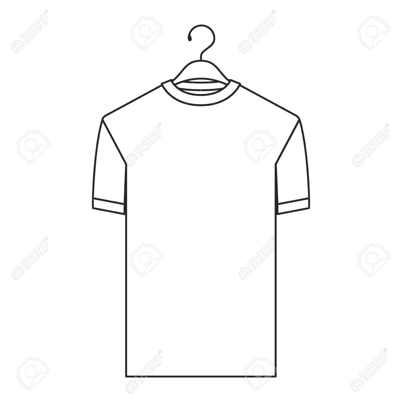 Suspensión Vector Camiseta En Ilustración Silueta Monocromática De Hombre E9DIH2